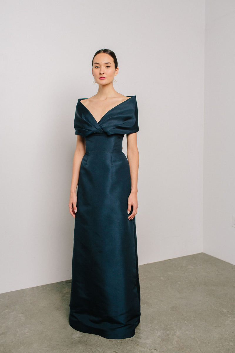 Off Shoulder Ava Gown with A-Line Skirt