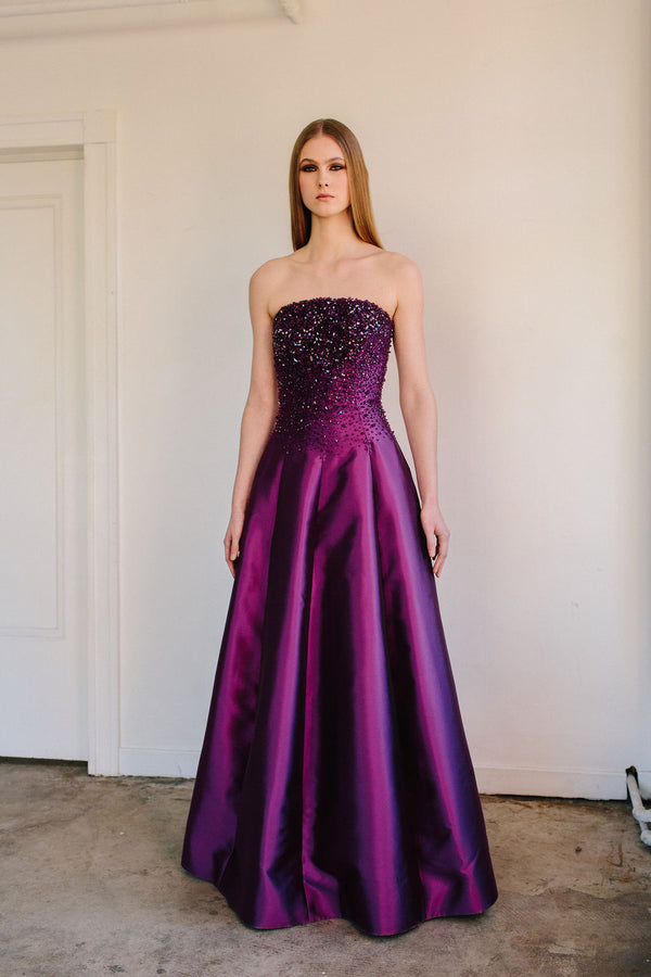 Strapless Van Der Rohe Gown with Crystal Bodice