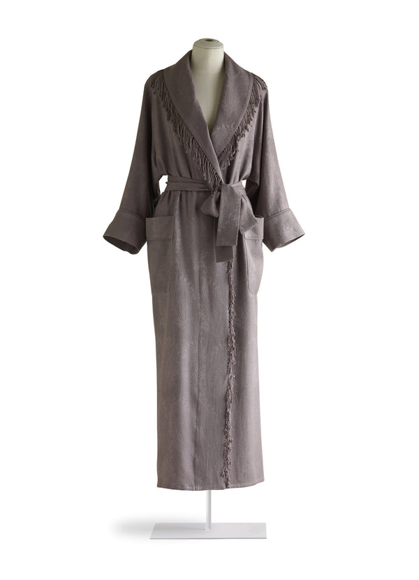 Pashmina Robe with Fringe Collar
