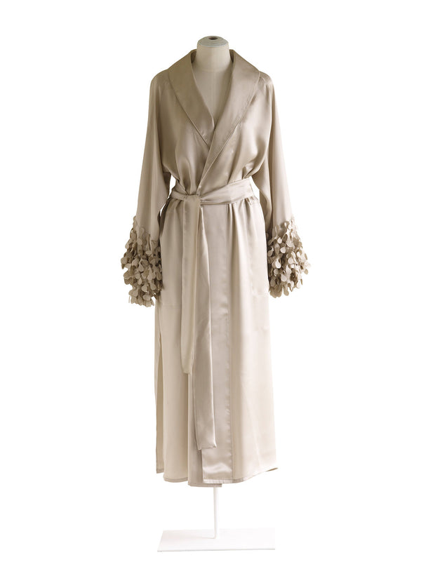 Shawl Collar Robe with Laser Cut Kelp Cuffs