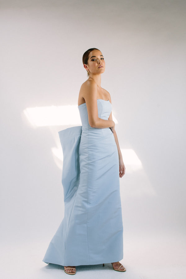 Strapless Levete Gown with Fan Back