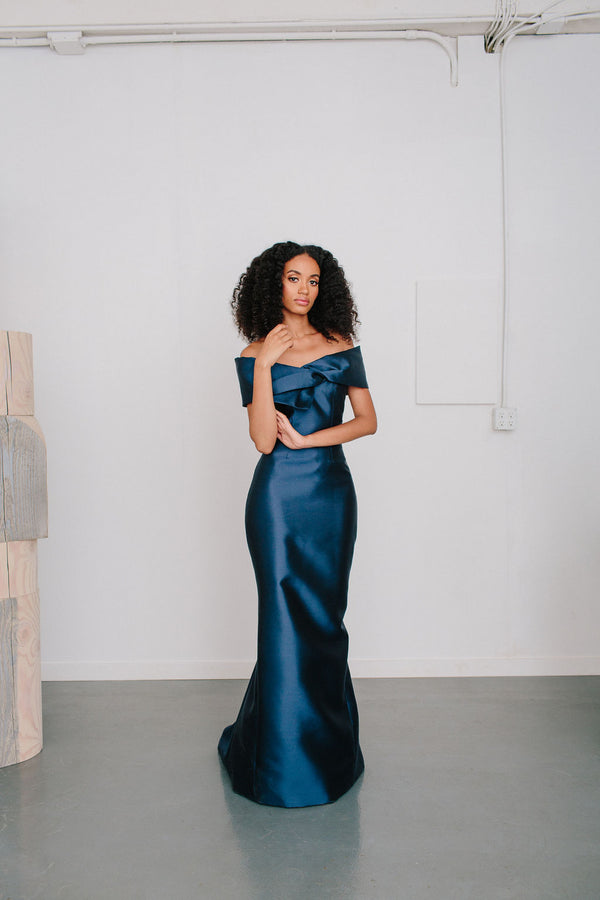 Off Shoulder Picard Gown
