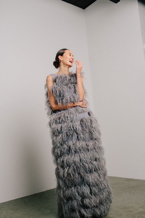 Tiered Feather Sheath