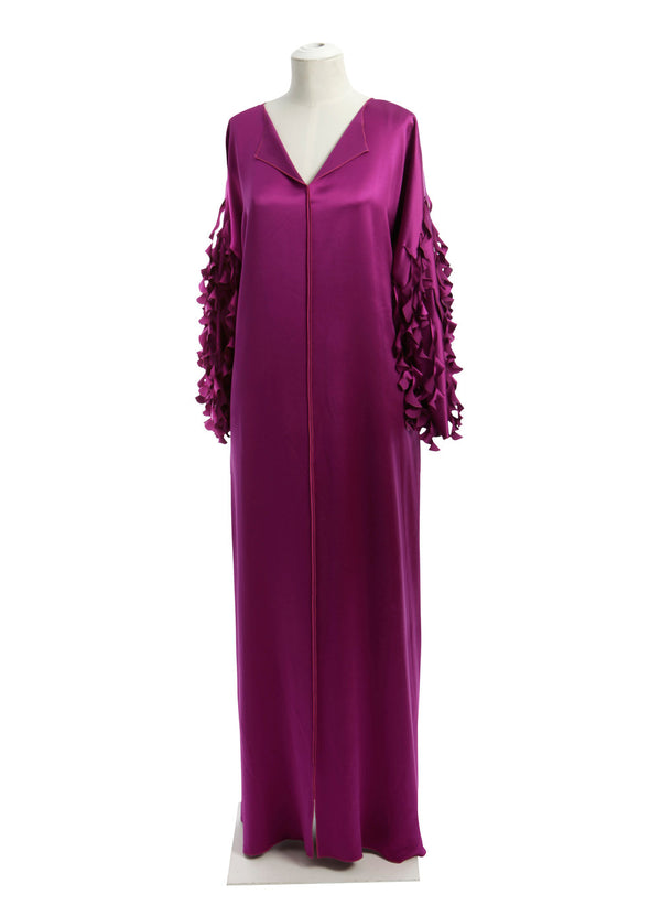 Split Neck Caftan with Laser Cut Spiral Cuff