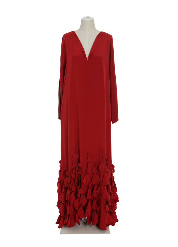 Split Neck Caftan with Swinging Discs