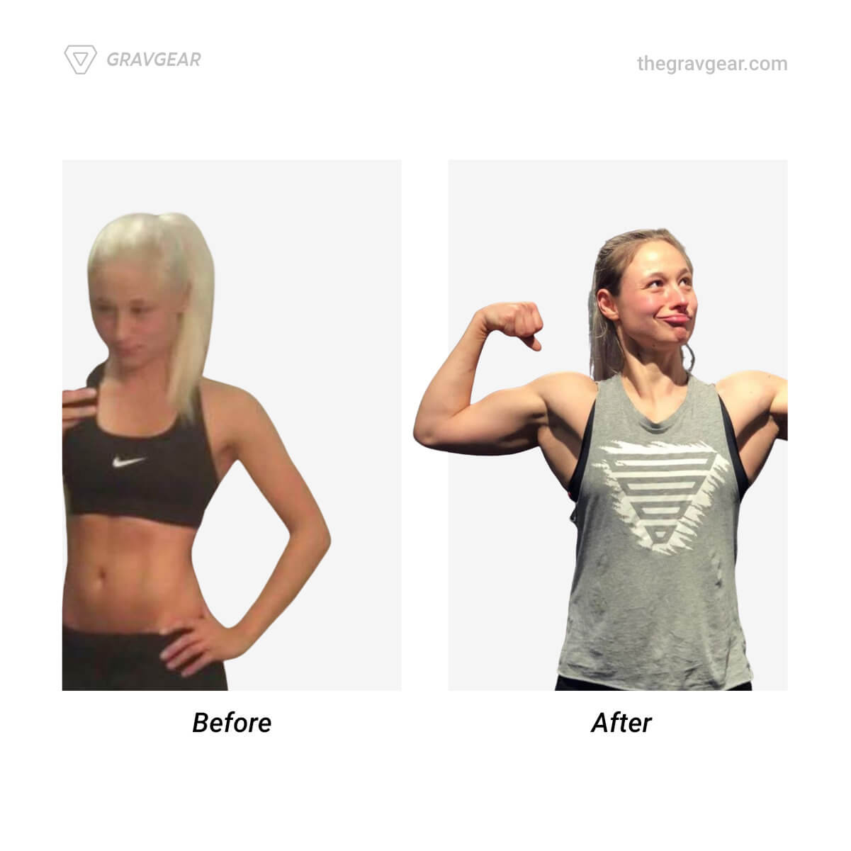 female calisthenics body transformation before and after