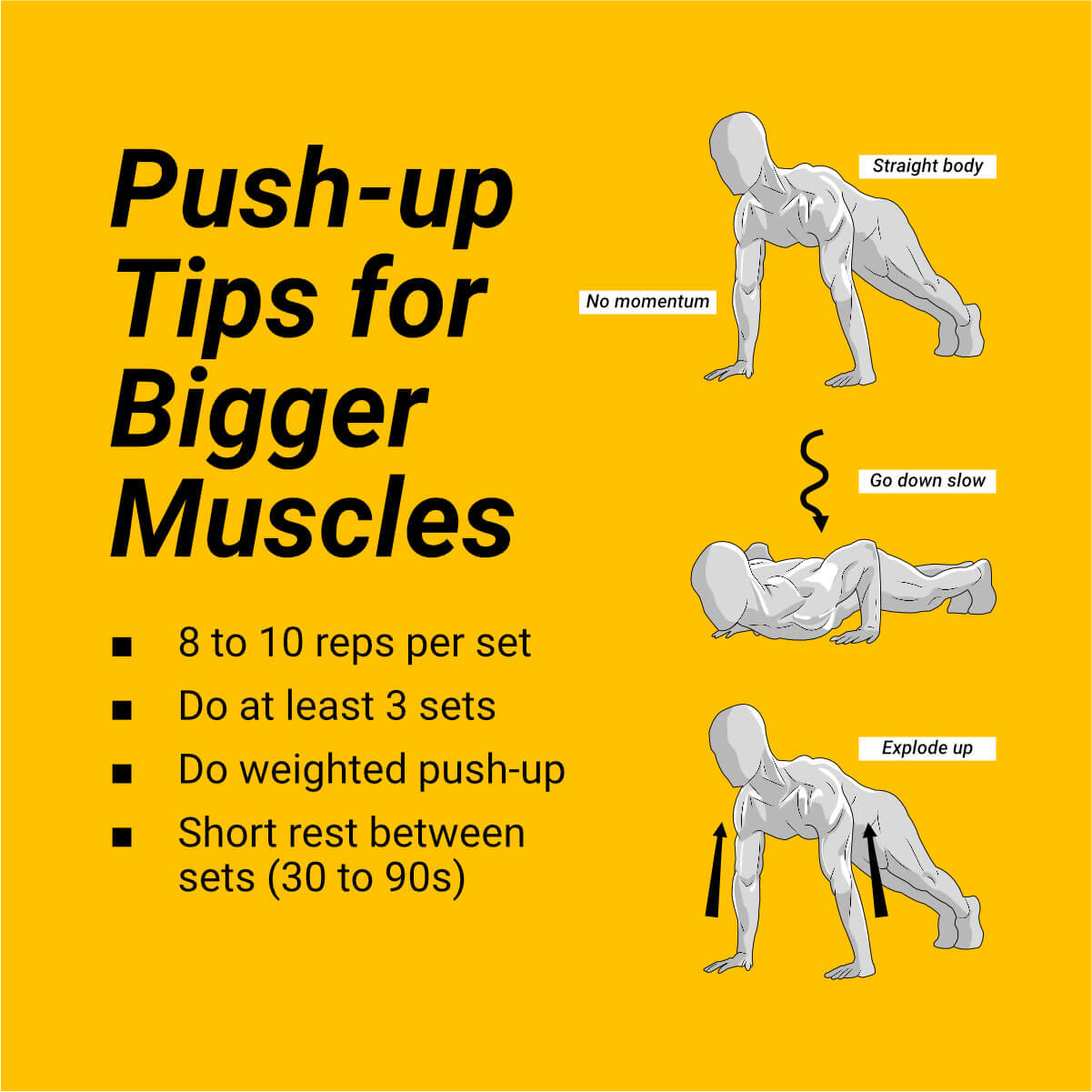 push up tips for bigger muscles