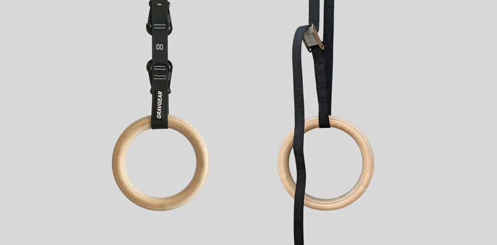 Grav gymnastic rings compare to regular rings neat setup no excessive straps