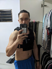 Weighted Vest Singapore Customer using for bodyweight training