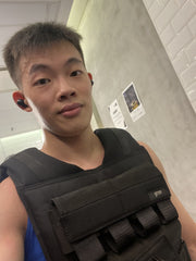 Weighted Vest Singapore Customer using for calisthenics