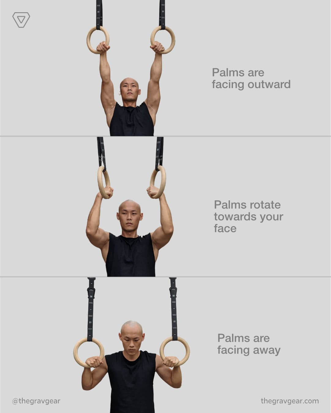 grav gymnastic rings pull up natural for joints