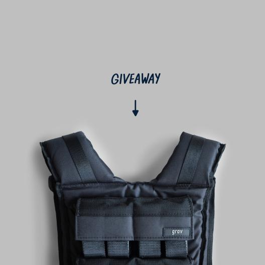 gravgear weight vest giveaway grey minimalism
