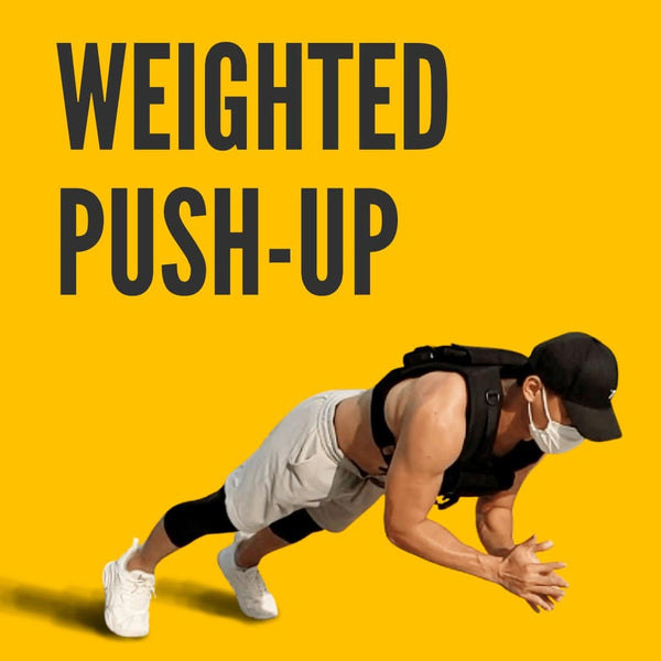 Do weighted pushup with Grav weight vest