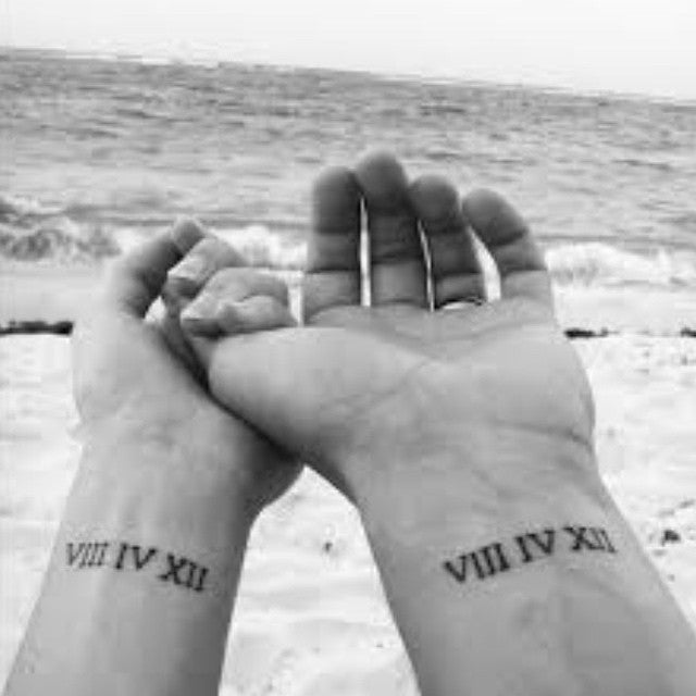 Numbers Matching Couple Tattoo