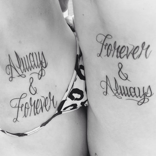 Always and forever Matching Couples Tattoos