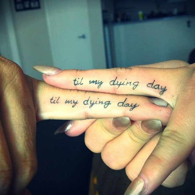 Til die Matching Couples Tattoos
