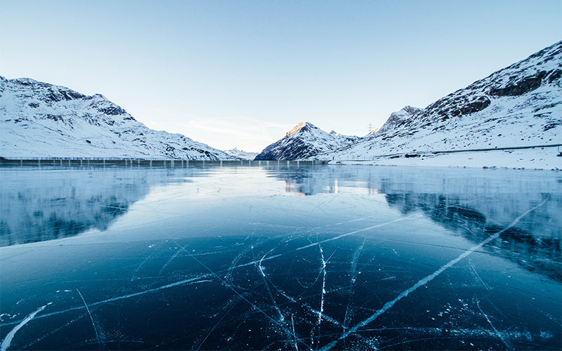 winter ice lake