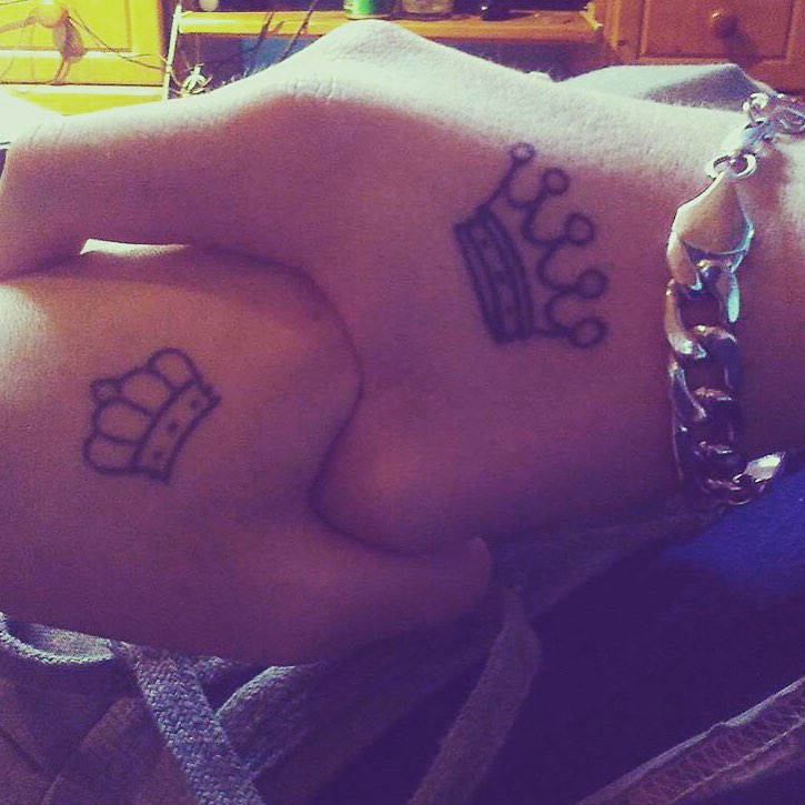 Crown Matching Couple Tattoo