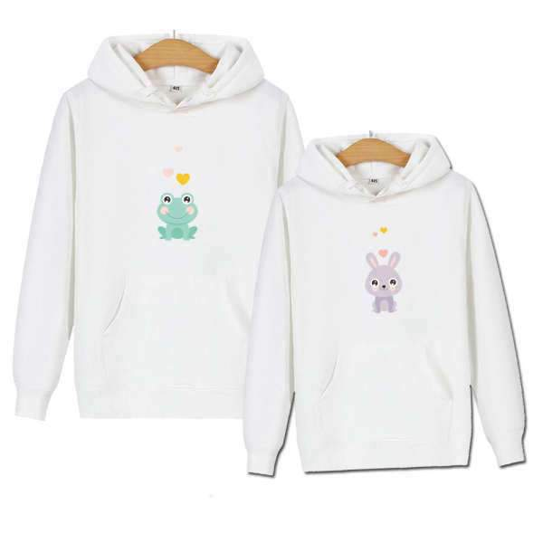 Matching Couple Hoodies Chibi Animal - Matching Outfits