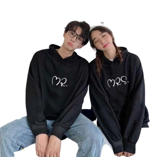 Matching Couple Hoodies Heart Mr Mrs - Matching Outfits