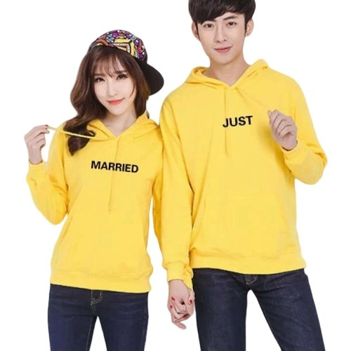 Matching Couple Hoodies Just Married - Matching Outfits