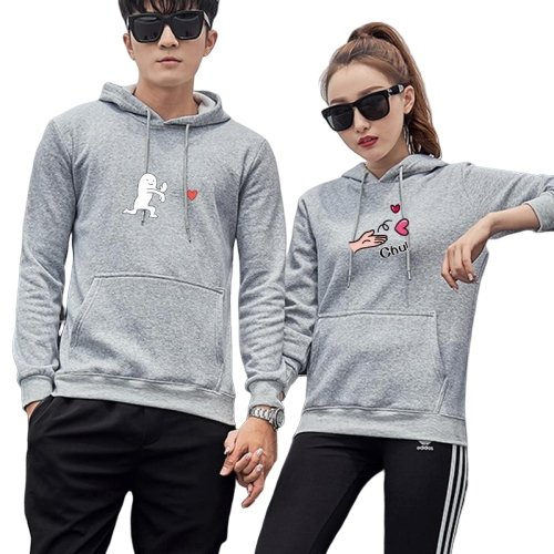 Matching Couple Hoodies Send Love - Matching Outfits