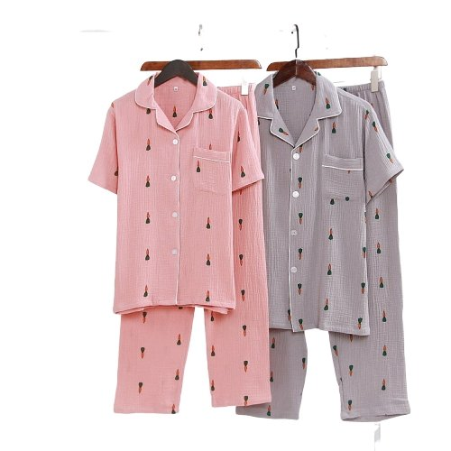 Matching Couple Nightwear Carrot Print - Matching Outfits