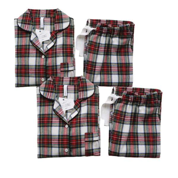 Matching Couple PJ's Welsh Check - Matching Outfits