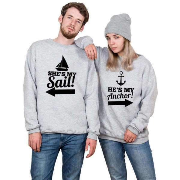 Matching Couple Sweater Anchor - Matching Outfits