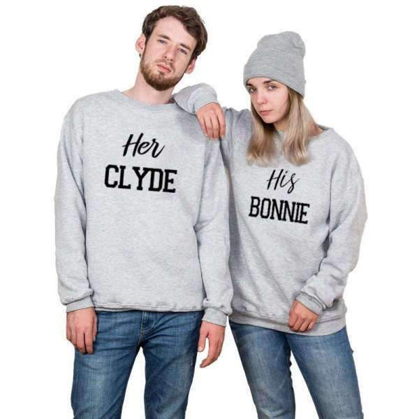 Matching Couple Sweater Bonnie and Clyde - Matching Outfits