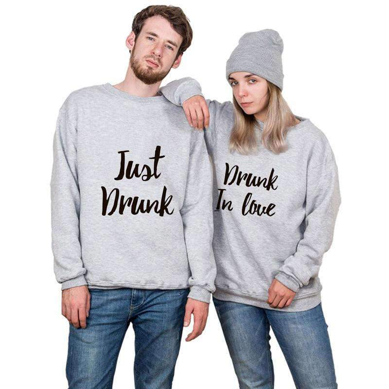 Matching Couple Sweater Just Drunk - Matching Outfits