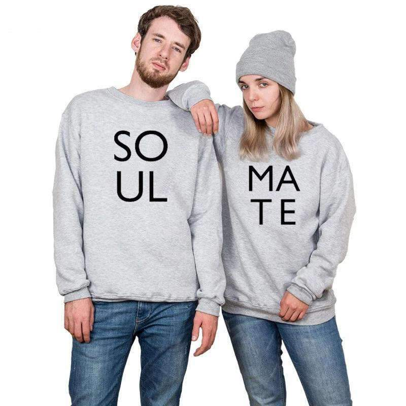 Matching Couple Sweater Soul Mate - Matching Outfits