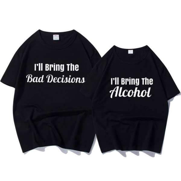 Matching Couple T-Shirt Alcohol - Matching Outfits
