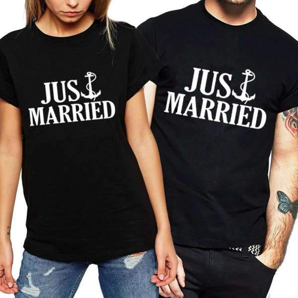 Matching Couple T-Shirt Anchor Married - Matching Outfits