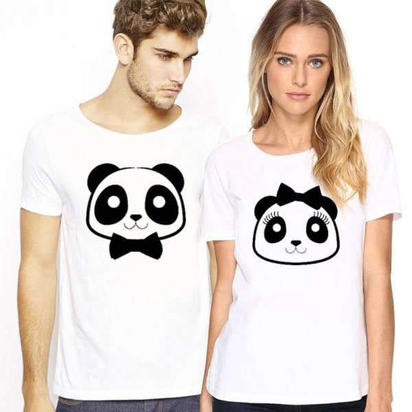 Matching Couple T-Shirt Chibi Panda - Matching Outfits