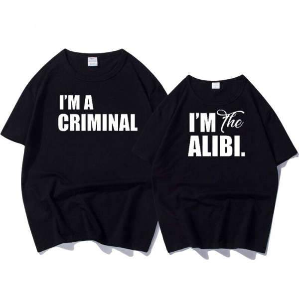 Matching Couple T-Shirt Criminal - Matching Outfits