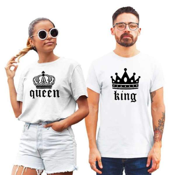 Matching Couple T-Shirt Design Crown - Matching Outfits