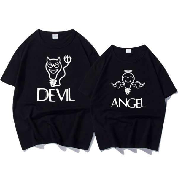 Matching Couple T-Shirt Devil Angel - Matching Outfits