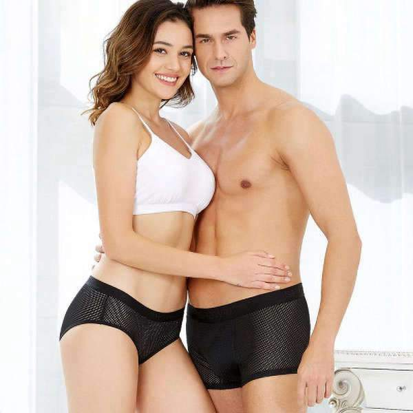 Matching Couple Underwear Silk Black - Matching Outfits