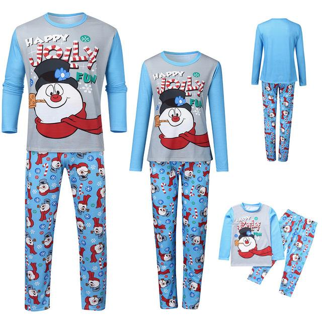 Matching Family Pajamas Anime Snowman - Matching Outfits