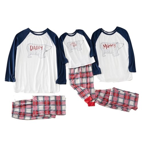 Matching Family Pajamas Cute Bear Red Check - Matching Outfits