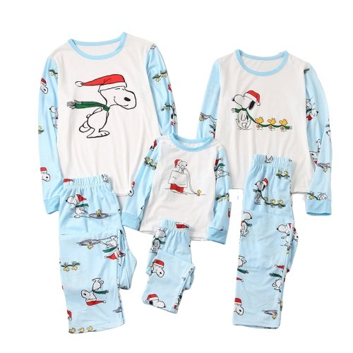 Matching Family Pajamas Dog Cartoon - Matching Outfits