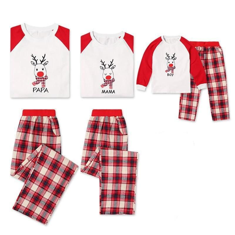 Matching Family Pajamas Family Reindeer - Matching Outfits