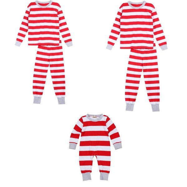 Matching Family Pajamas Red Stripes - Matching Outfits