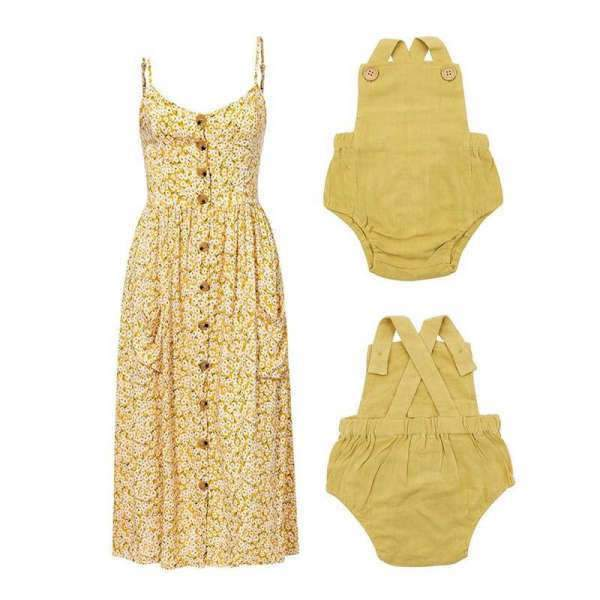 Matching Mom and Baby Spring Yellow Dress - Matching Outfits