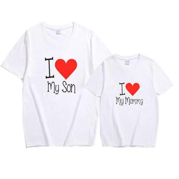 Matching Mom And Son T-Shirt I Love You White - Matching Outfits