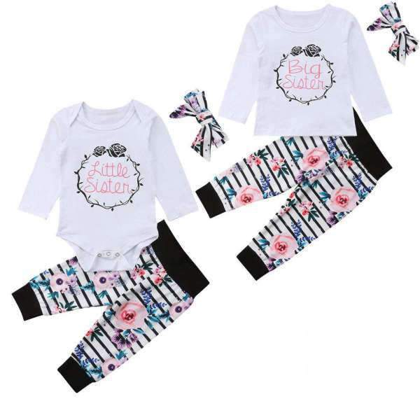 Matching Sisters Outfits Rose Flower set - Matching Outfits
