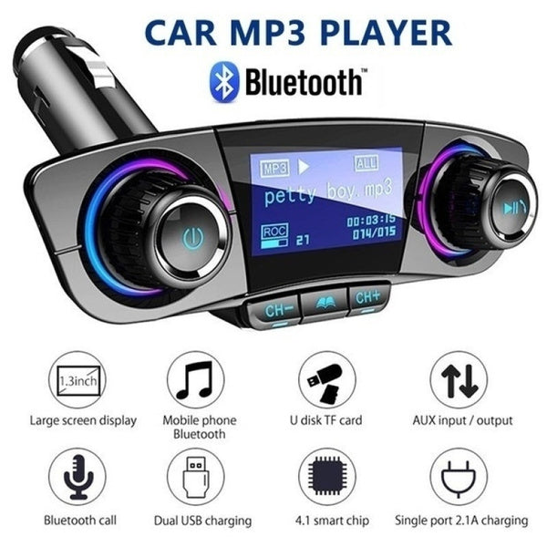 Transmitator FM multifunctional pentru masina cu MP3 Player si Bluetooth