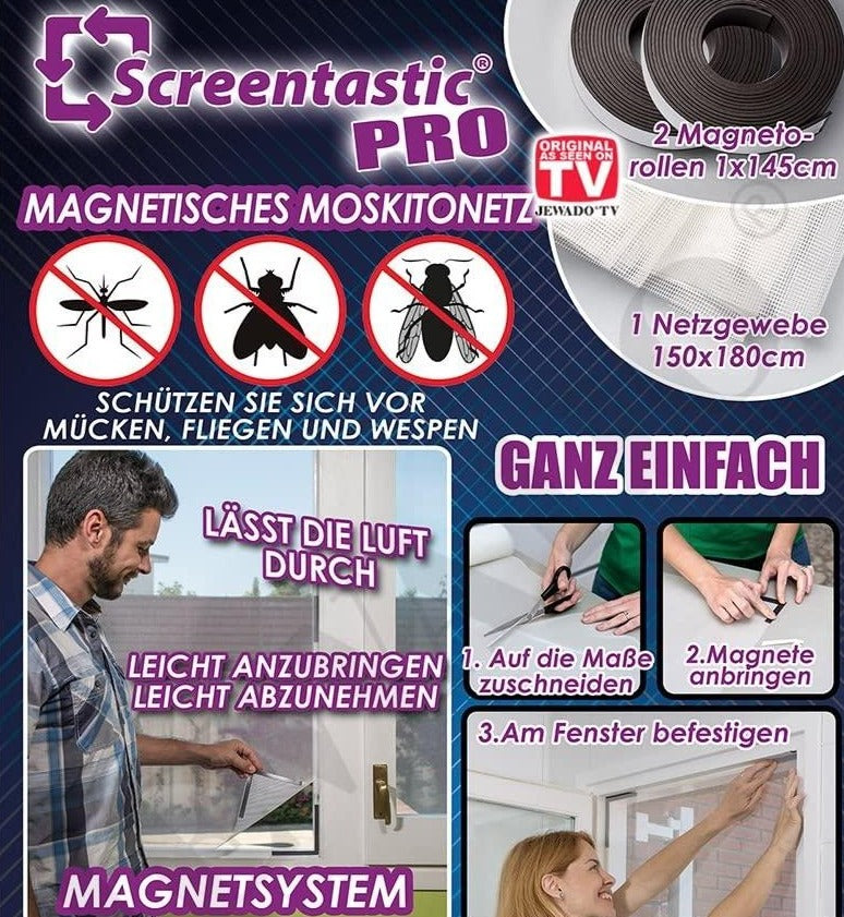 Plasa magnetica anti insecte, Screentastic Pro