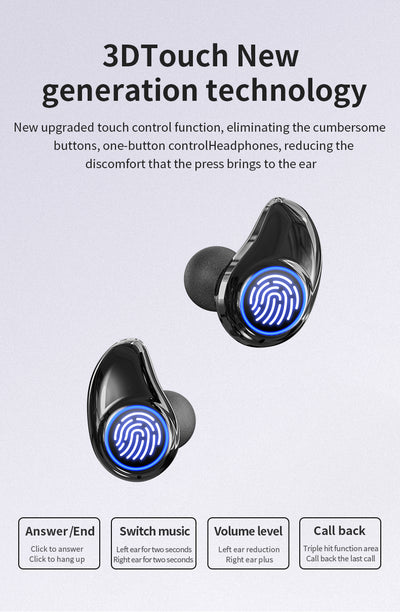 Casti Wireless Bluetooth 5.0, TWS A1, 3D sound, incarcare rapida